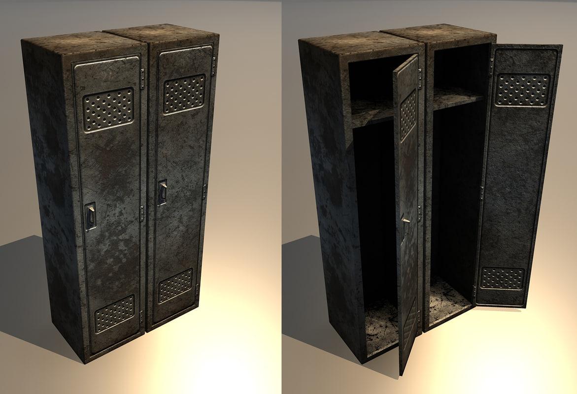 3d old rusty locker