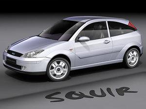 3d model of focus hatchback