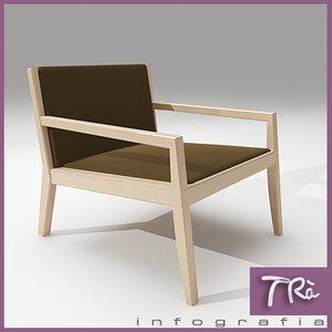 3dsmax armchair carlotta