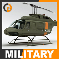 Helicopter - Military Bell 206L with Interior