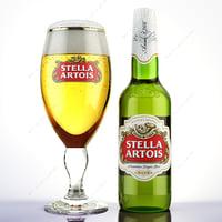 realistic beer stella artois max