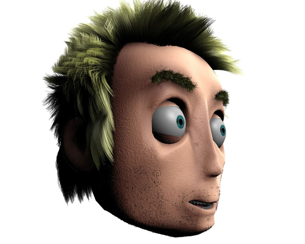 3d model character hair morph