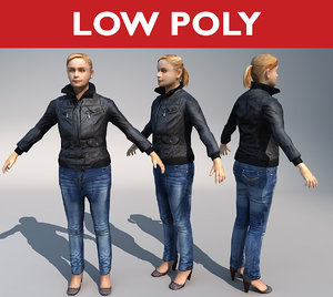 casual girl 3d max