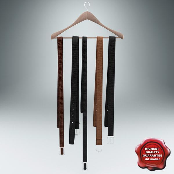 clothes hanger belts c4d