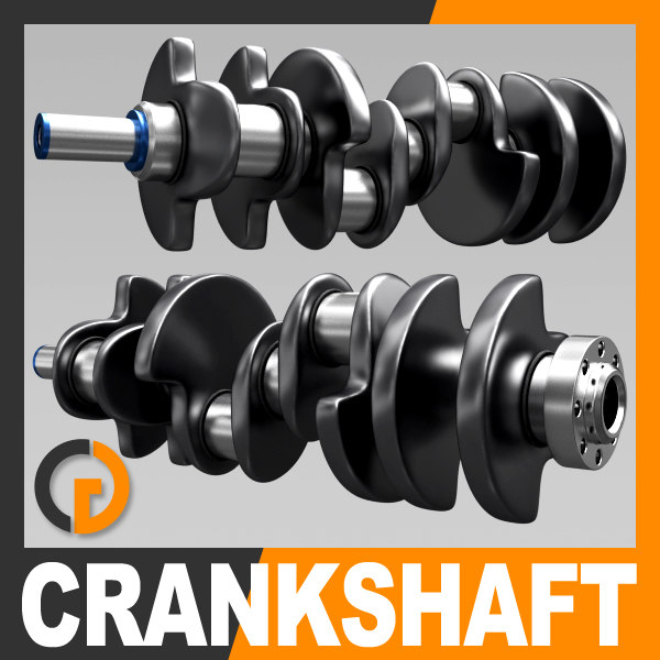 3d engine crankshaft piston crank