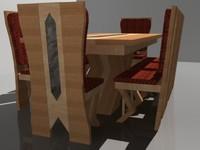 custom modern dining table 3d 3ds