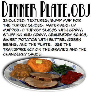 dinnerplate plate 3d model