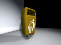 3d model waste poubelle