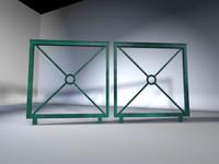 barrière 3d model