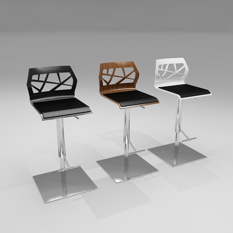 3d funky bar stool model