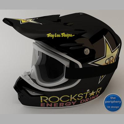 3d tld rockstar helmet goggles