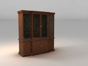 old fashioned hutch 3d model