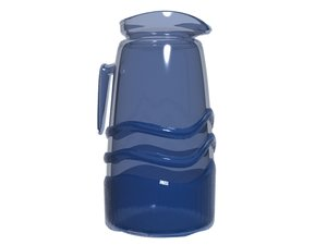3d model water blue glass jag