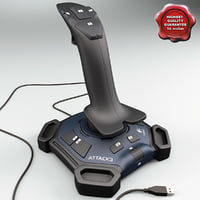 3d model joystick logitech attack 3