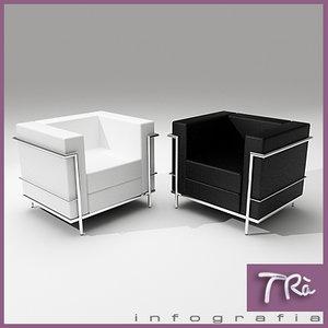 sofa petit comfort living room 3d model