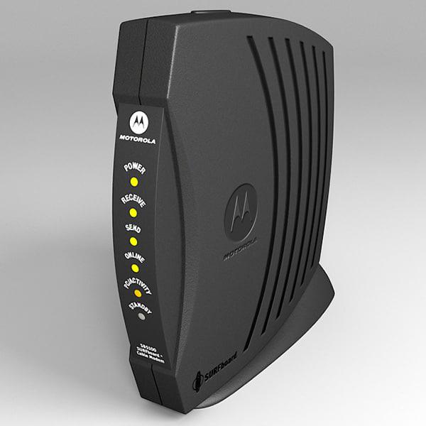 cable modem 3d max