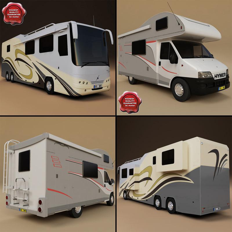 motorhomes v2 3d model