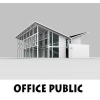 office public interior building 3d 3ds