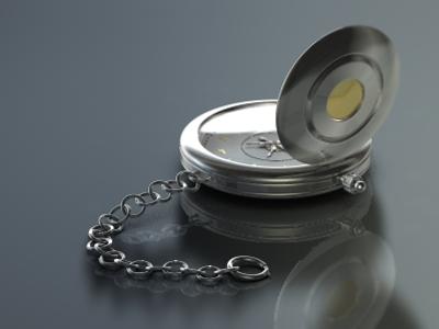 3d pocket watch model