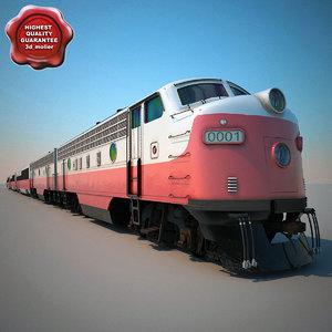maya realistic passenger train v2