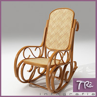 living room armchair rocking 3d model