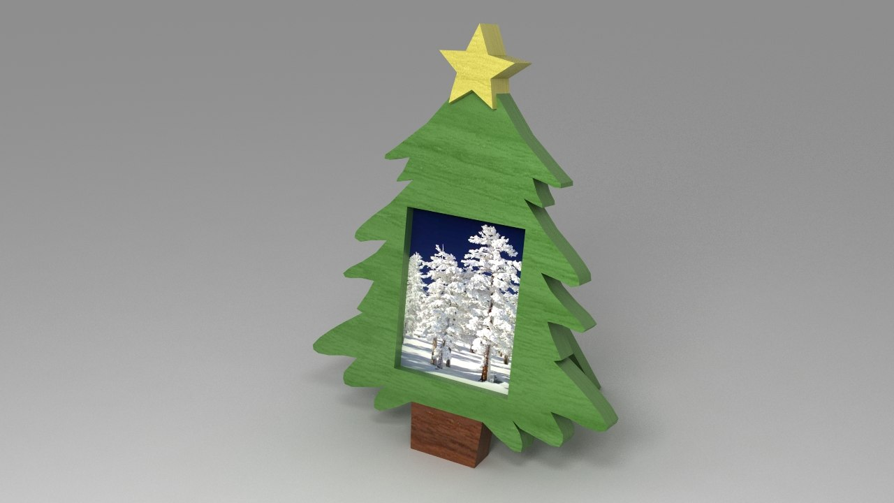 christmas tree photoframe 3d max