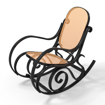 3d model of rocking chair
