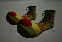 bright clown shoes 3d lwo