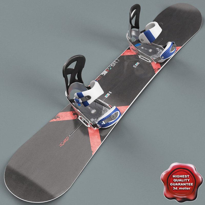 3d snowboard v2 model