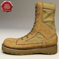 3d model soldier boots v3