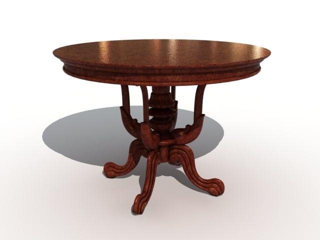 3d x classical table