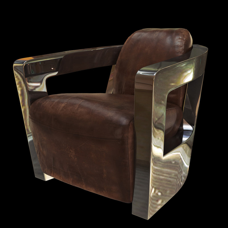 chair armchair leather 3d model