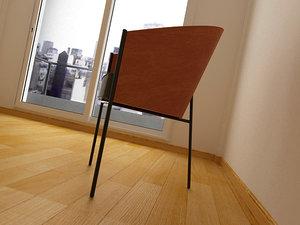 3d model starck - chair costes