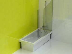 3d bathtub shower