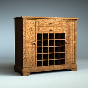 wine cabinet 3d 3ds