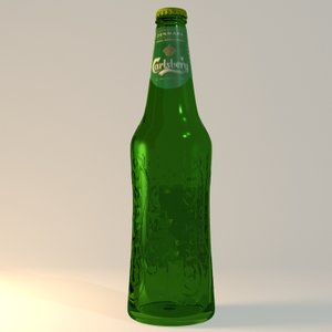 beer bottle carlsberg 3d max