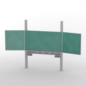 blackboard school 3d model