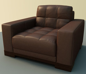leather couch 3d obj