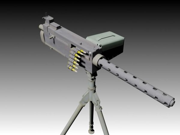free browning 30 machine gun 3d model