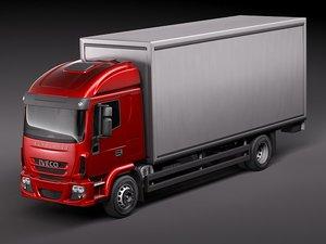 iveco eurocargo cargo truck 3d model