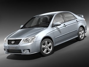 kia spectra 2006 2008 3d model