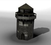 medieval tower obj