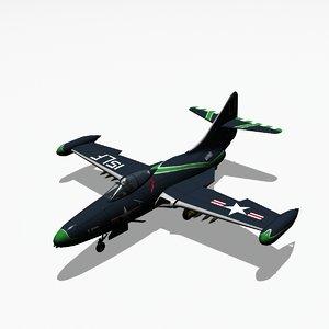 grumman f9f panther jet fighter 3ds