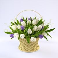 obj tulip basket