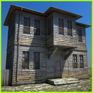 3d wooden house 3