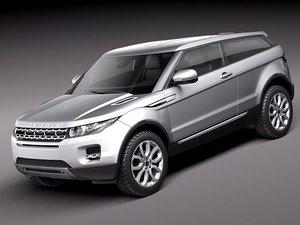 3d model range evoque 2012