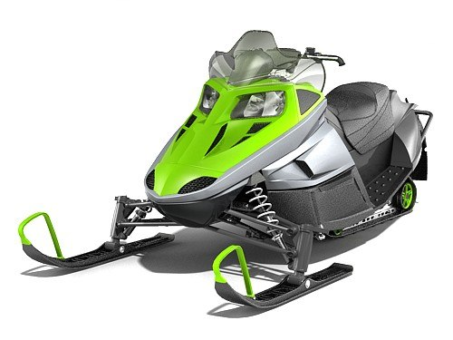 3d snowmobile snow mobile vehicle model