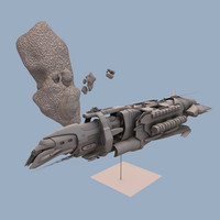blender mining ship starduzz
