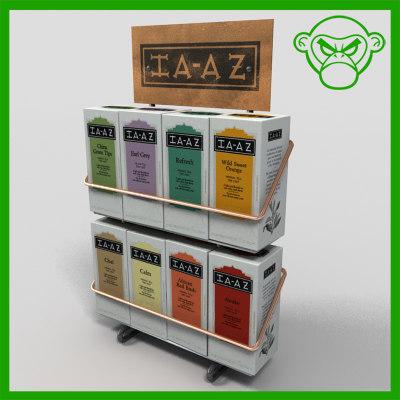 3d tea merchandiser