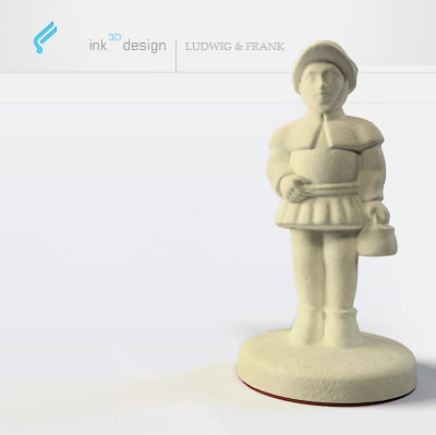 chess figures pawn 3d max